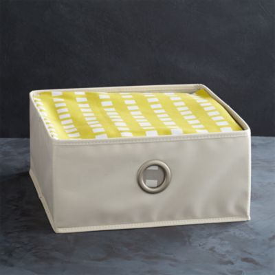 Small Buff Storage Bin with Grommet