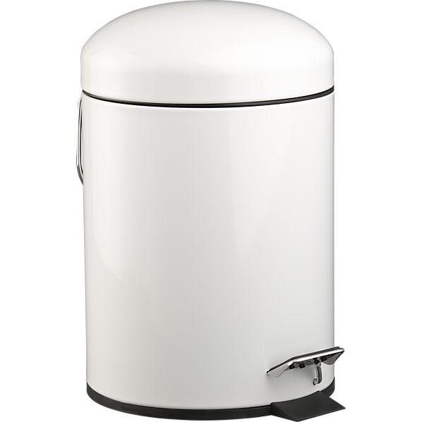 White Bullet 1.3-Gallon Trash Can