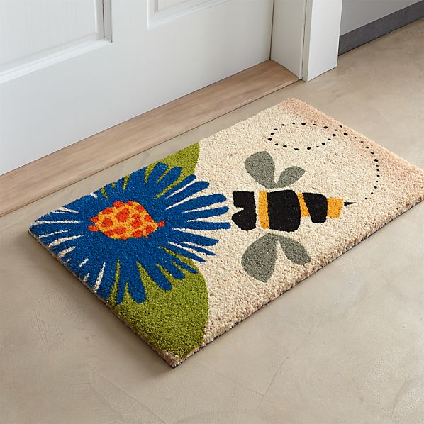 Bumble Bee Doormat In Door Mats Crate And Barrel