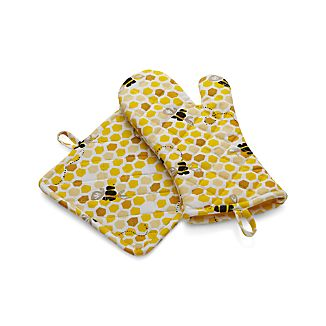 Bumble Bee Mitt and Pot Holder