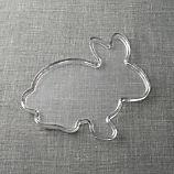 Bunny-Shaped Glass Platter