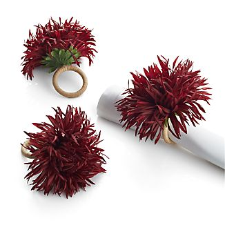 Burgundy Mum Napkin Ring