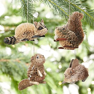 Buri Woodland Animal Ornaments