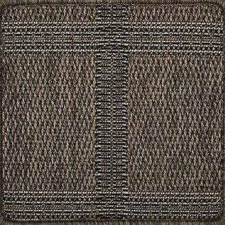 "Butler Grid Indoor-Outdoor 12"" sq. Rug Swatch"
