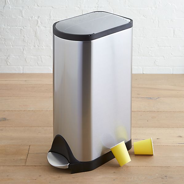 simplehuman ® 30-Liter/8-Gallon Stainless Steel Butterfly Step Trash Can