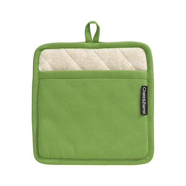 Crate and Barrel Green Potholder