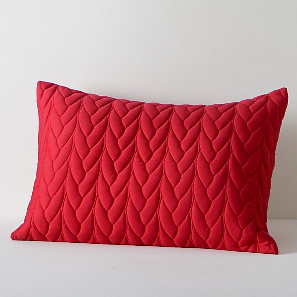 Red Cable Standard Sham