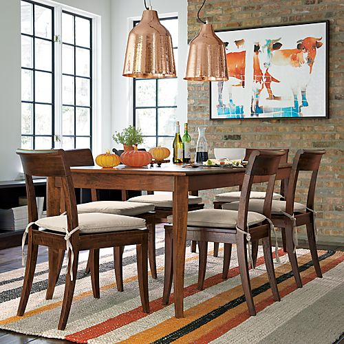 Captiva Java Dining Chair and Stone Cushion