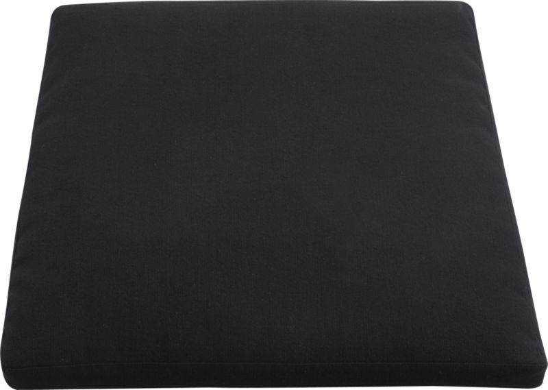 Plush cushion adds custom comfort to our Cabria fiber chair. Removable cotton cover in solid black is machine washable.<br /><br /><NEWTAG/><ul><li>100% cotton</li><li>Polyester foam and fill</li><li>Zipper closure</li><li>Machine wash the removable cover</li><li>Made in India</li></ul><br />