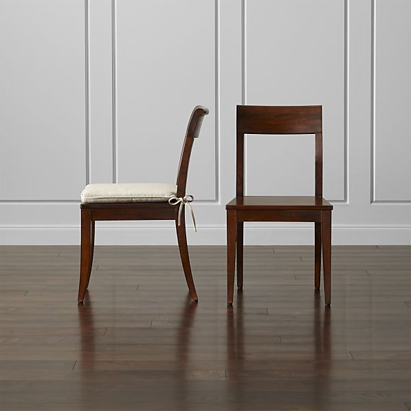 Cabria Honey Brown Wood Dining Chair and Cushion