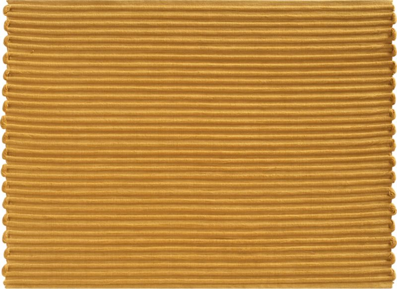 The rustic rib weave of this hand-dyed, hand-woven cotton placemat creates a scalloped edge for a soft, organic effect.<br /><br /><NEWTAG/><ul><li>100% cotton</li><li>Oversized to allow for shrinkage</li><li>Machine wash</li><li>Made in India</li></ul><br />