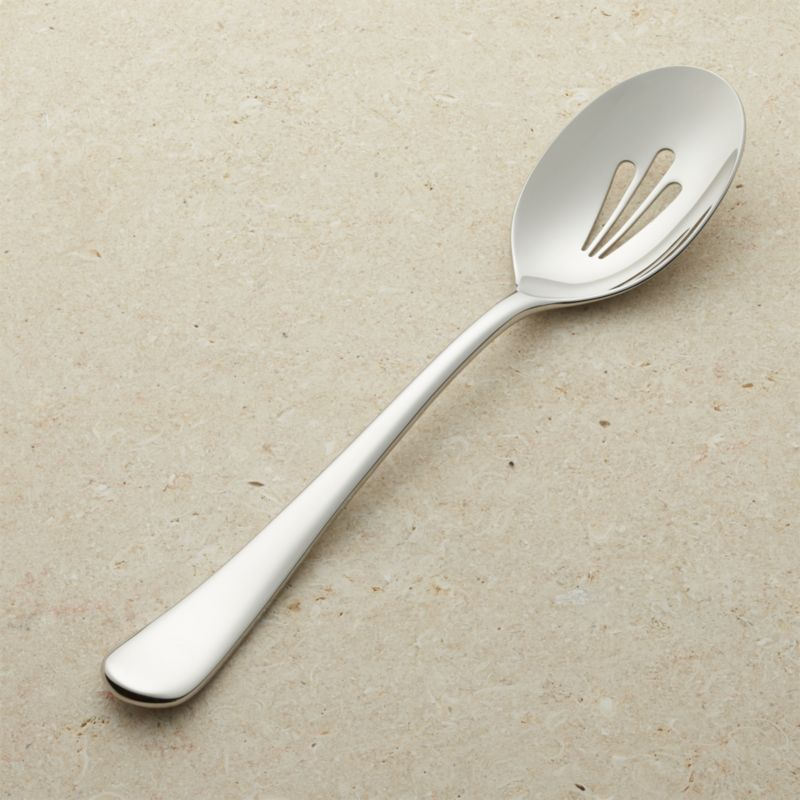 Caesna Mirror Slotted Serving Spoon