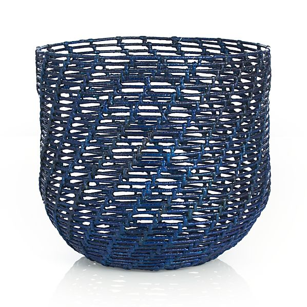 Caitlin Blue Round Basket