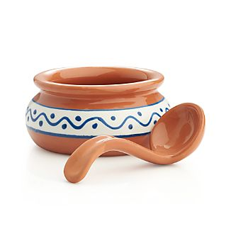 Calisto Salsa Bowl with Spoon