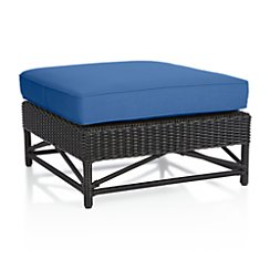 Calistoga Sunbrella ® Wingback Ottoman with Cushion