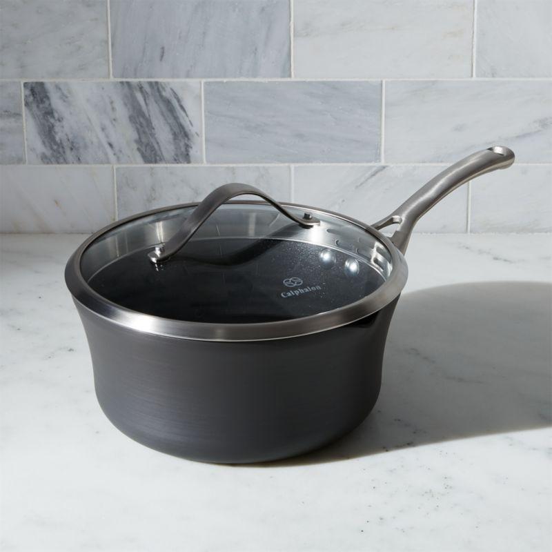 Calphalon Contemporary ™ Non-Stick 3.5 qt. Pour & Strain Saucepan