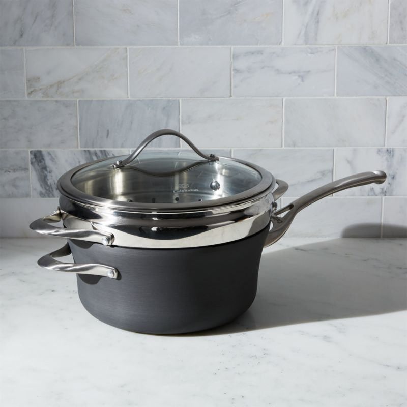 Calphalon Contemporary ™ Non-Stick 4.5-qt. Saucepan with Steamer