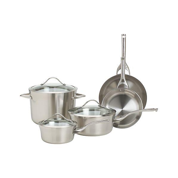 Calphalon ® Contemporary Stainless 8-Piece Cookware Set with Double Bonus