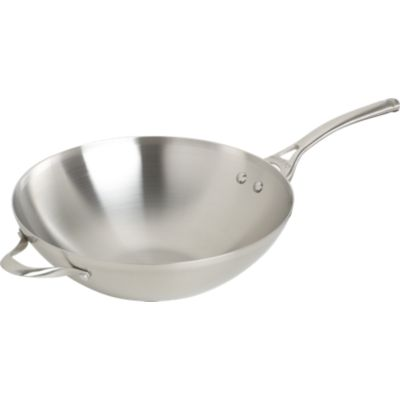 Calphalon® Contemporary Stainless Flat-Bottomed Wok