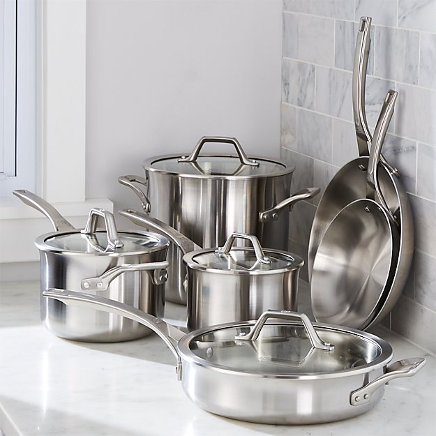 Calphalon 174 Signature Stainless Steel 10 Piece Cookware