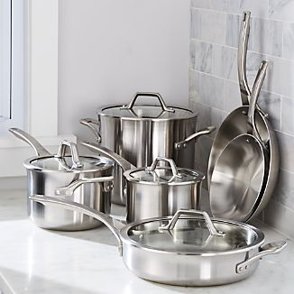 Calphalon ® Signature Stainless Steel 10-Piece Cookware Set