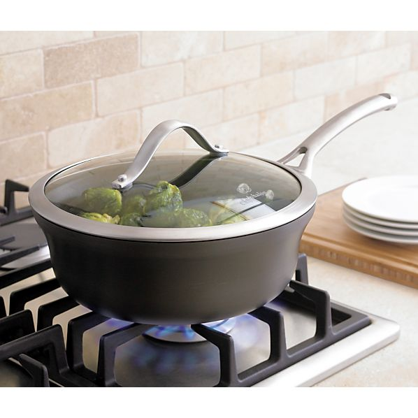 Calphalon Contemporary ™ Nonstick Shallow 2.5 qt. Saucepan with Lid