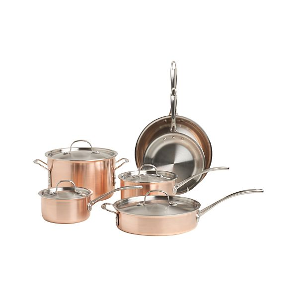 Calphalon ® Tri-Ply Copper 10-Piece Cookware Set with Double Bonus