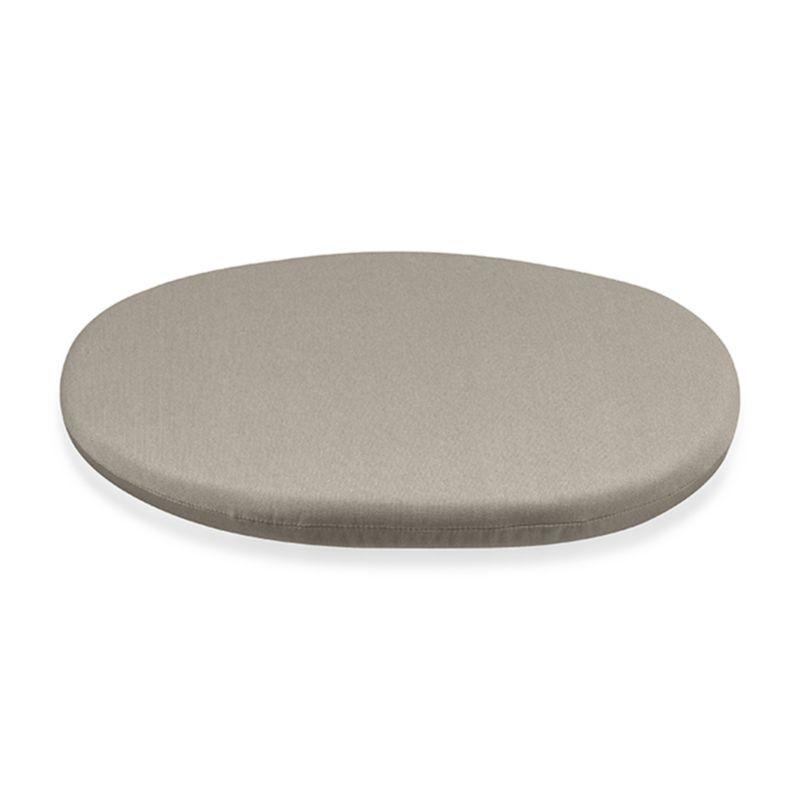 Round cushion in stone fits our Calypso chair perfectly, adding plush comfort in fade- and mildew-resistant Sunbrella acrylic.<br /><br /><NEWTAG/><ul><li>Solution-dyed Sunbrella® acrylic</li><li>100% urethane foam fill</li><li>Fade- and mildew-resistant fabric</li><li>Spot clean</li><li>Made in USA</li></ul>
