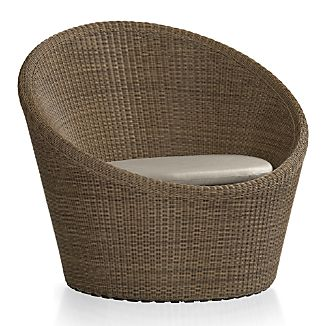 Calypso Mocha Swivel Lounge Chair with Sunbrella ® Stone Chair Cushion