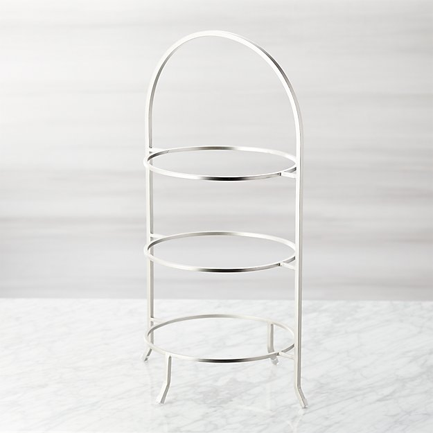 Cambridge Satin Nickel 3-Tier Stand