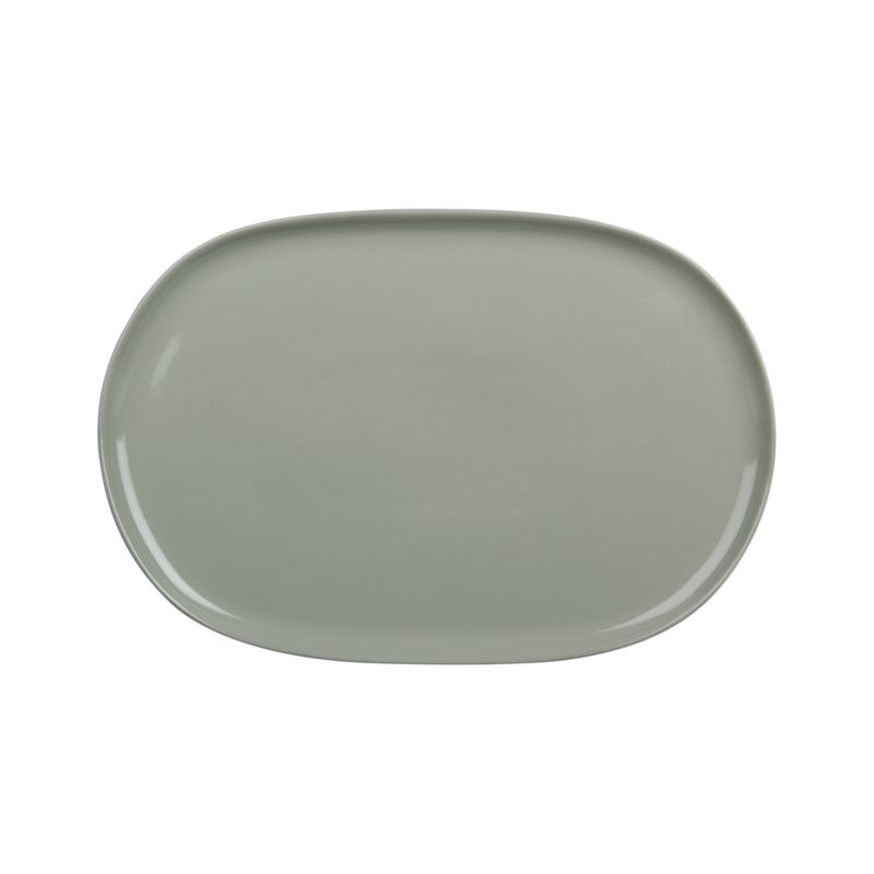 Simple coupe shapes in neutral stoneware define contemporary everyday dining.<br /><br /><strong>Please note:</strong>The Camden Stone Platter is discontinued. When our current inventory is sold out, it is unlikely we will be able to obtain more.<br /><br /><NEWTAG/><ul><li>Stoneware</li><li>Dishwasher-, microwave- and oven-safe to 350 degrees</li><li>Made in Thailand</li></ul>