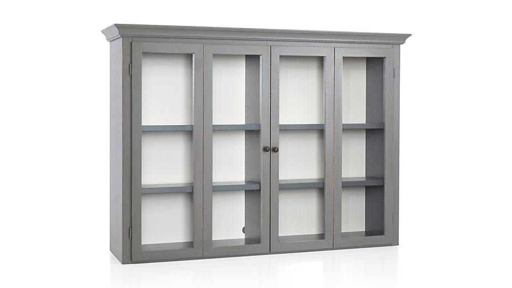 Cameo Grey Modular Hutch with Glass Doors