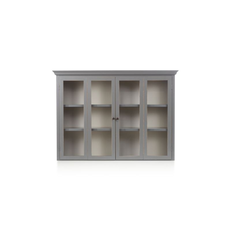 Cameo Grey Modular Hutch With Glass Doors Crate And Barrel