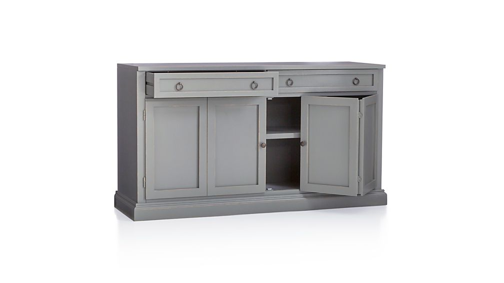 Cameo 2-Piece Grey Glass Door Wall Unit