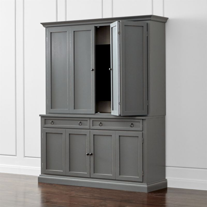 Cameo 2 Piece Grey Entertainment Center Crate And Barrel