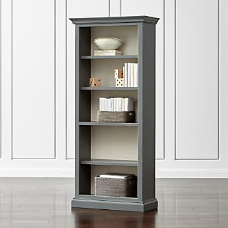 Bookcases wood metal and glass crate and barrel for Kitchen cabinets lowes with crate and barrel wall art sale