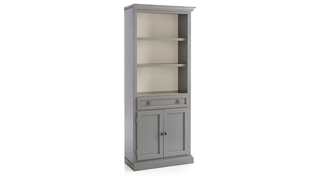 Cameo Grey Right Storage Bookcase