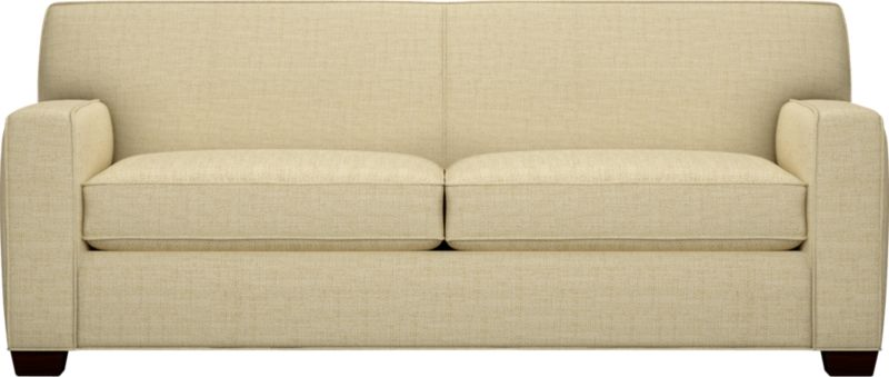 """The classic modern sofa we've all been looking for—clean-lined but not too edgy, graceful but never fussy—and beneath, a full-sized sleeper. Wide track arms frame plush, generous seat cushions that sink deep into a comfortably angled tight back. And the tailoring is impeccable. Finished with self-welt detailing that follows every line. Hardwood legs are stained black walnut.<br /><br />After you place your order, we will send a fabric swatch via next day air for your final approval. We will contact you to verify both your receipt and approval of the fabric swatch before finalizing your order.<br /><br /><NEWTAG/><ul><li>Eco-friendly construction</li><li>Certified sustainable kiln-dried hardwood frame</li><li>Seat cushions are soy-based polyfoam wrapped in regenerated synthetic fiber and encased in downproof ticking</li><li>Tight back is filled with soy-based polyfoam and regenerated synthetic fibers</li><li>Bi-fold sleeper mechanism with 5½"""" innerspring mattress with 229 coil-count</li><li>Upholstered in polyester-cotton with self-welt detailing</li><li>Benchmade</li><li>See additional frame options below</li><li>Made in North Carolina, USA of domestic and imported materials</li></ul>"""