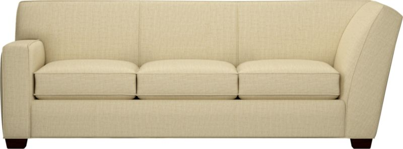 The classic modern sofa we've all been looking for—clean-lined but not too edgy, graceful but never fussy. Wide track arms frame plush, generous seat cushions that sink deep into a comfortably angled tight back. And the tailoring is impeccable, finished with self-welt detailing that follows every line. Hardwood legs are stained black walnut.<br /><br />After you place your order, we will send a fabric swatch via next day air for your final approval. We will contact you to verify both your receipt and approval of the fabric swatch before finalizing your order.<br /><br /><NEWTAG/><ul><li>Eco-friendly construction</li><li>Certified sustainable kiln-dried hardwood frame</li><li>Seat cushions are soy-based polyfoam wrapped in regenerated synthetic fiber and encased in downproof ticking</li><li>Tight back is filled with soy-based polyfoam and regenerated synthetic fibers</li><li>Sinuous wire spring suspension</li><li>Upholstered in polyester-cotton with self-welt detailing</li><li>Benchmade</li><li>See additional frame options below</li><li>Made in North Carolina, USA of domestic and imported materials</li></ul>