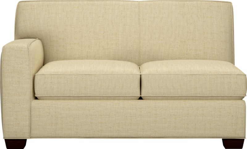 The classic modern loveseat we've all been looking for—clean-lined but not too edgy, graceful but never fussy. Wide track arms frame plush, generous seat cushions that sink deep into a comfortably angled tight back. And the tailoring is impeccable, finished with self-welt detailing that follows every line. Hardwood legs are stained black walnut.<br /><br />After you place your order, we will send a fabric swatch via next day air for your final approval. We will contact you to verify both your receipt and approval of the fabric swatch before finalizing your order.<br /><br /><NEWTAG/><ul><li>Eco-friendly construction</li><li>Certified sustainable kiln-dried hardwood frame</li><li>Seat cushions are soy-based polyfoam wrapped in regenerated synthetic fiber and encased in downproof ticking</li><li>Tight back is filled with soy-based polyfoam and regenerated synthetic fibers</li><li>Sinuous wire spring suspension</li><li>Upholstered in polyester-cotton with self-welt detailing</li><li>Benchmade</li><li>See additional frame options below</li><li>Made in North Carolina, USA of domestic and imported materials</li></ul>