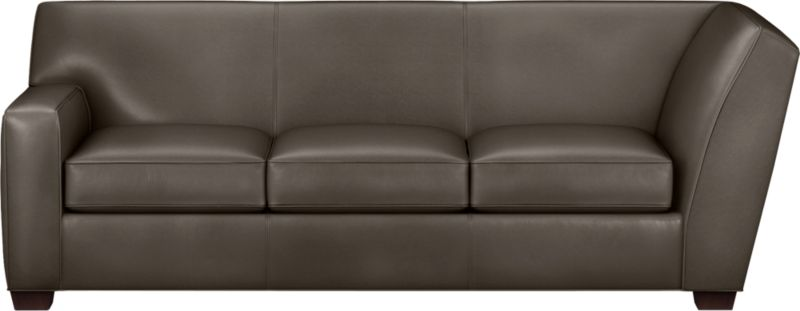 The classic modern leather sofa we've all been looking for in the richest, most supple leather there is—clean-lined but not too edgy, graceful but never fussy. Top-grain Italian hide is aniline-dyed and hand-stained to a handsome tonal effect that only gets more lustrous with time. Natural pebble grain is beautifully showcased by impeccable tailoring with self-welt detail. Made to mix modular, single wide track arms frame plush, generous seat cushions that sink deep into a comfortably angled tight back. Hardwood legs are stained black walnut.<br /><br />After you place your order, we will send a leather swatch via next day air for your final approval. We will contact you to verify both your receipt and approval of the leather swatch before finalizing your order.<br /><br /><NEWTAG/><ul><li>Eco-friendly construction</li><li>Certified sustainable kiln-dried hardwood frame</li><li>Seat cushions are soy-based polyfoam wrapped in regenerated synthetic fiber and encased in downproof ticking</li><li>Tight back is filled with soy-based polyfoam and regenerated synthetic fibers</li><li>Sinuous wire spring suspension</li><li>Upholstered in aniline-dyed leather with self-welt detailing</li><li>Benchmade</li><li>See additional frame options below</li></ul>