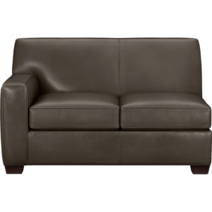 Cameron Leather Sectional Left Arm Loveseat