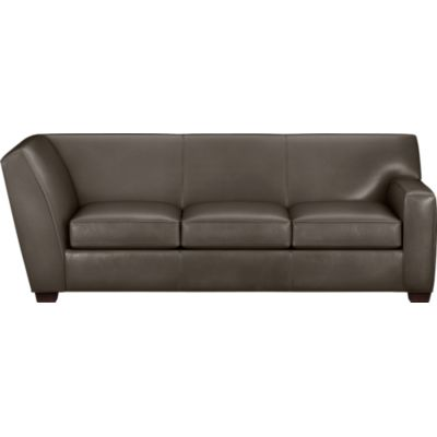 Cameron Leather Sectional Right Arm Corner Sofa