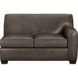 Cameron Leather Sectional Right Arm Loveseat