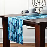 """Candles 90"""" Blue Table Runner"""