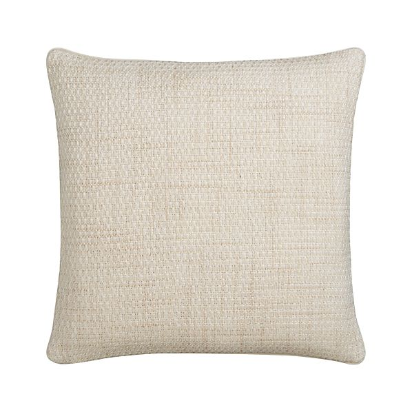 "Caney Ivory 20"" sq. Pillow"