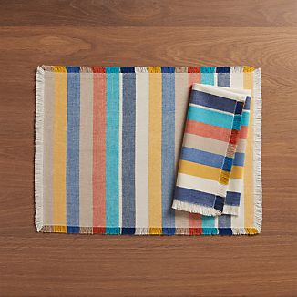 Cantina Multi Stripe Placemat and Napkin
