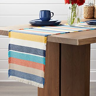 "Cantina 90"" Striped Table Runner"