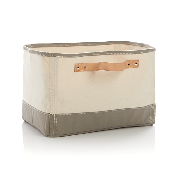 Canvas rectangular bin with leather handles crate and barrel - Superhero laundry hamper ...