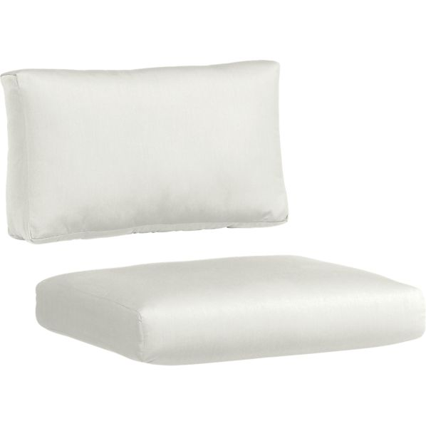 Canyon Sunbrella ® White Sand Lounge Chair Cushion